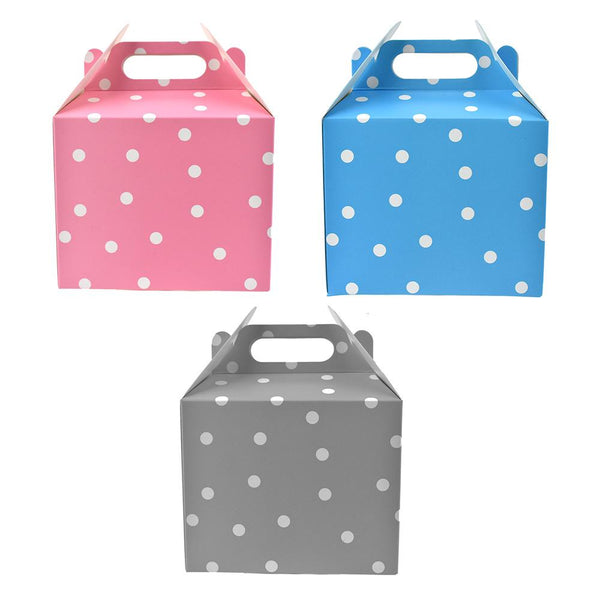 12-Pack, Polka Dot Cardboard Favor Box, 5-1/4-inch, 4-Count