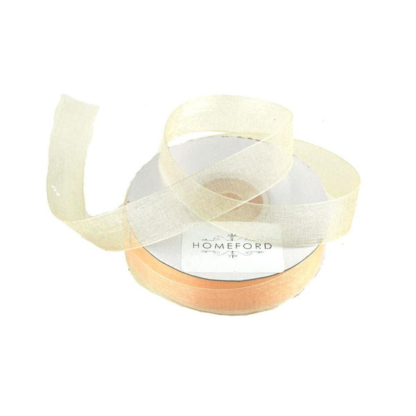Sheer Organza Ribbon, 5/8-inch, 25-yard, Light Peach