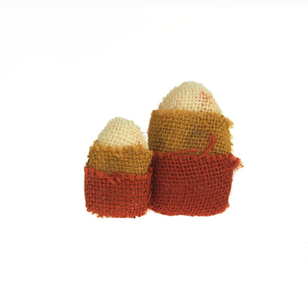 12-Pack, Halloween Burlap Candy Corn, 3-Inch, 2-Piece