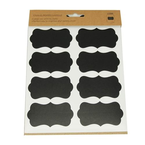 Chalkboard Label Stickers, Bracket, 3-inch, 24-count