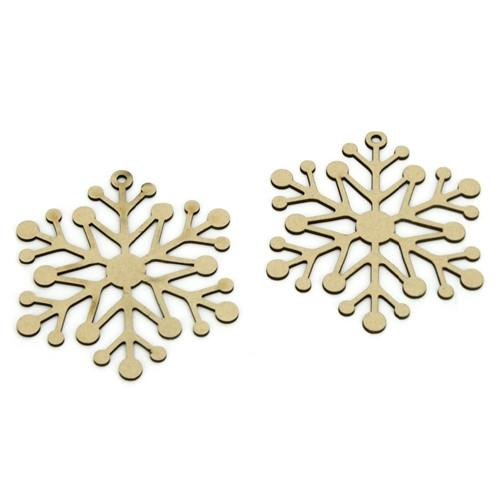 12-Pack, Snow Flake Laser Cut Ornaments, 4-Inch, 2-Piece