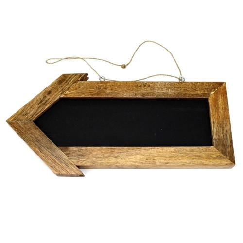 12-Pack, Rustic Wood Chalkboard Arrow Sign, 12-Inch