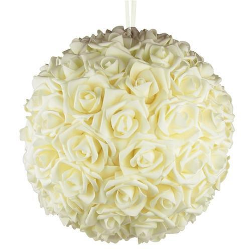 12-Pack, Soft Touch Flower Kissing Balls Wedding Centerpiece, 14-inch