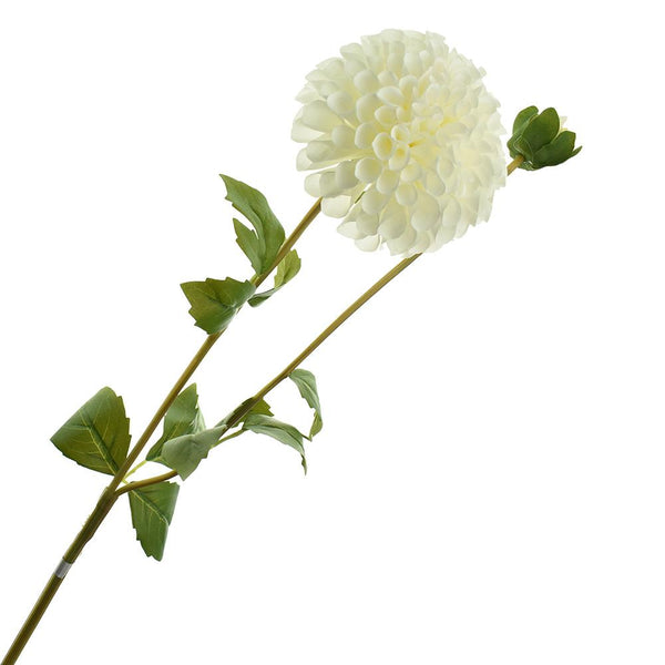 Artificial Fully Blossomed Dahlia Pick, 31-1/2-Inch, White