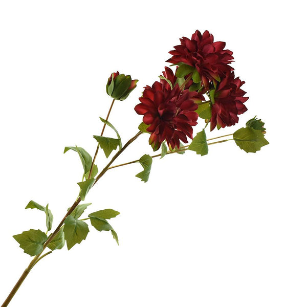 Artificial Two Toned Dahlia Spray, 29-1/2-Inch, Burgundy