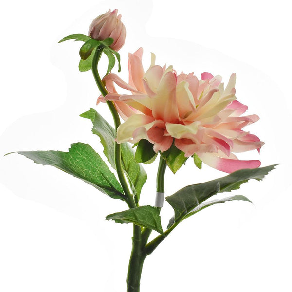 Artificial Dahlia Spray, Pink, 13-Inch