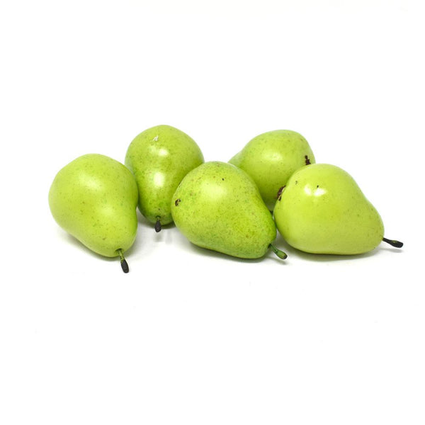 12 Pack, Realistic Home Decor Faux Mini Pears, Green, 2-1/2-Inch,12-Piece