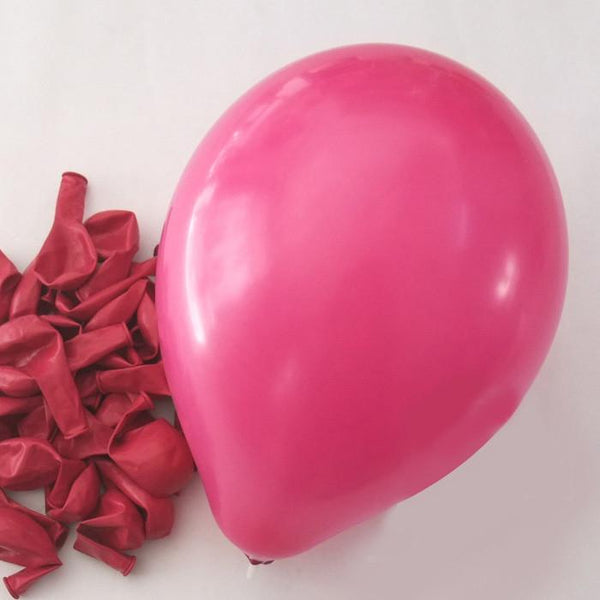12-Pack, Latex Balloons Party Supplies, 12-inch, 12-piece, Fuchsia