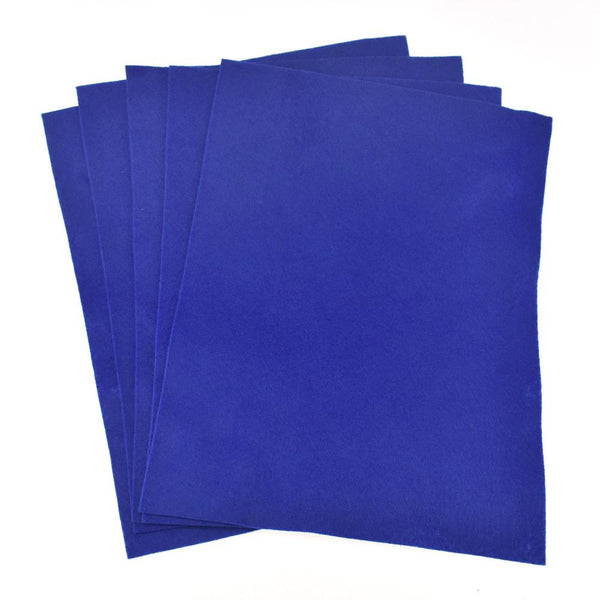Premium Craft Felt Sheets, 8-1/2-Inch x 11-Inch, 5-Count, Royal Blue