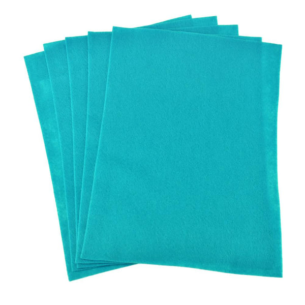 Premium Craft Felt Sheets, 8-1/2-Inch x 11-Inch, 5-Count, Teal Blue