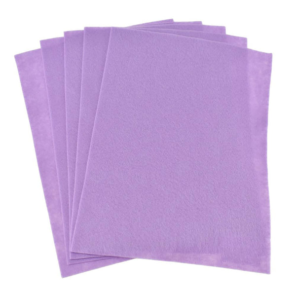 Premium Craft Felt Sheets, 8-1/2-Inch x 11-Inch, 5-Count, Lavender