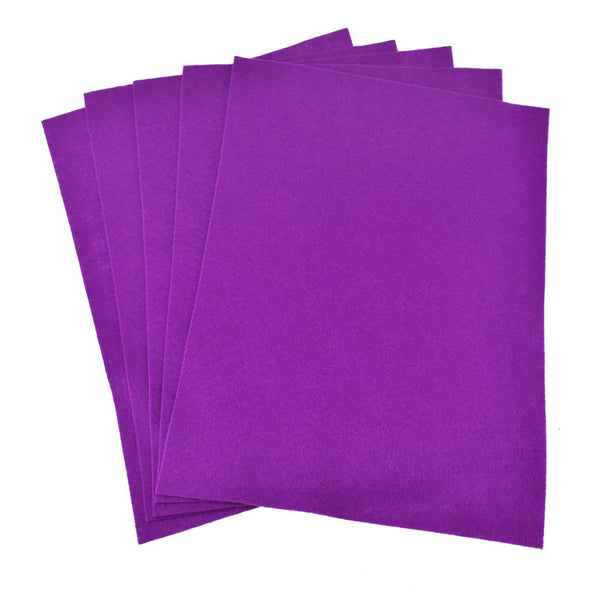 Premium Craft Felt Sheets, 8-1/2-Inch x 11-Inch, 5-Count, Majestic Violet