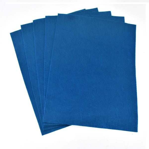 Premium Craft Felt Sheets, 8-1/2-Inch x 11-Inch, 5-Count, Deep Blue