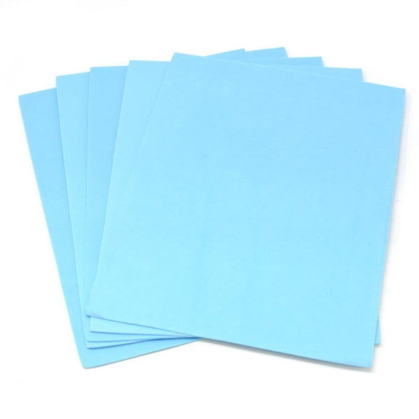 Plain EVA Foam Sheets, 9-Inch x 12-Inch, 5-Piece, Light Blue