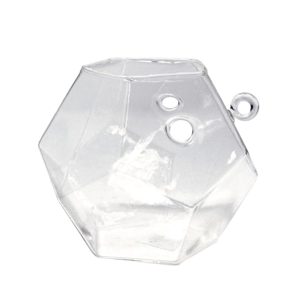 Clear Acrylic Glass Geometric Hanging Terrarium, 4-1/2-Inch