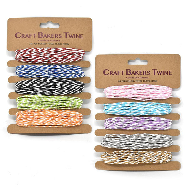 12-Pack, Craft Bakers Twine, Dual Color, 5-1/2-Yard, 2-Piece