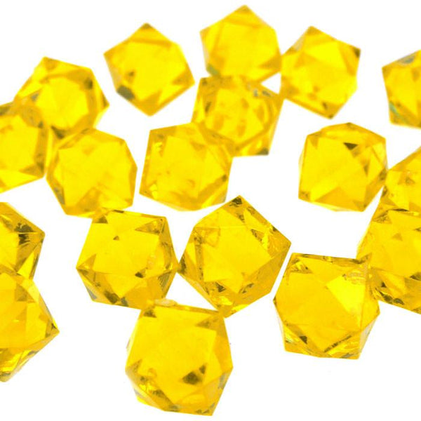 12-Pack, Acrylic Ice Rocks Twelve Point Star, 3/4-inch, 150-piece, Gold
