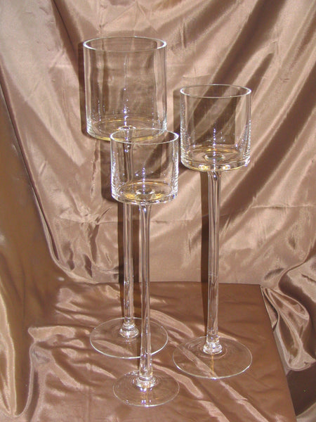 Clear Glass Wine Candle Holder Table Centerpiece