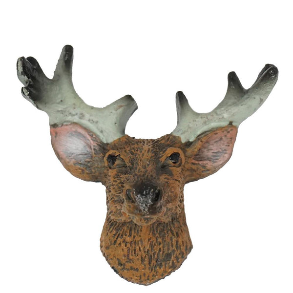 Mini Mounted Deer Head Figurine, Brown, 1-3/4-Inch