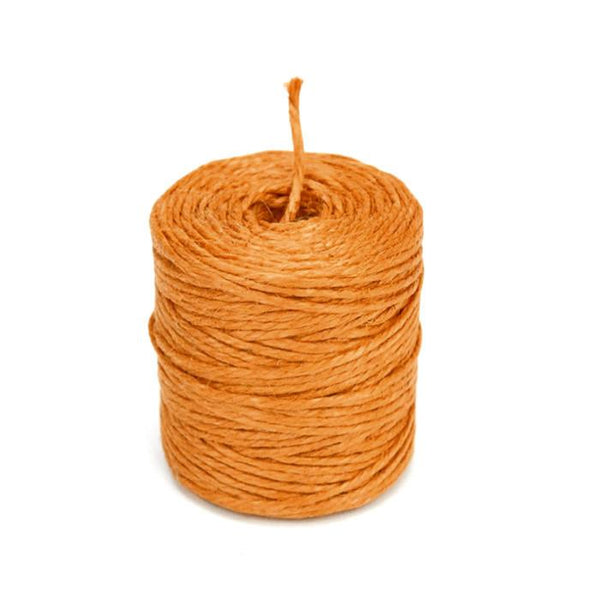 12-Pack, Burlap Jute Twine Rope, 3-Ply, 3mm, 75 Yards, Orange