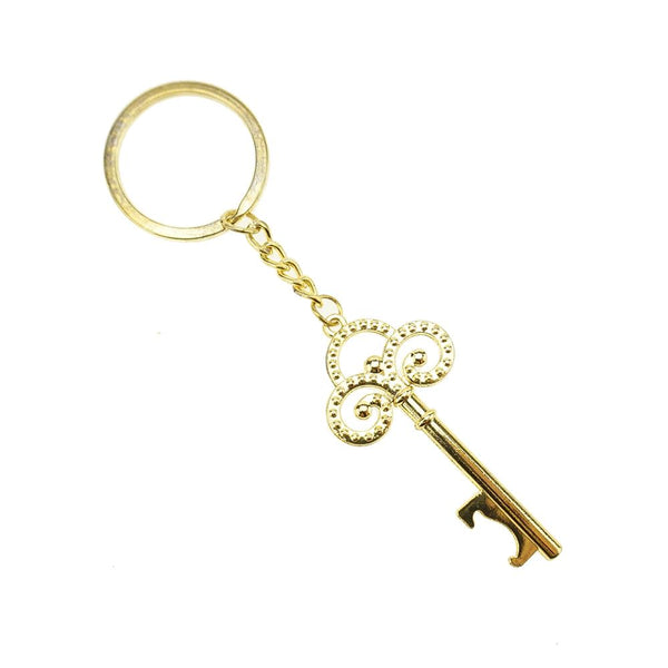Antique Skeleton Key Wedding Key Chain Favor, 4-3/4-Inch, 12-Count, Gold