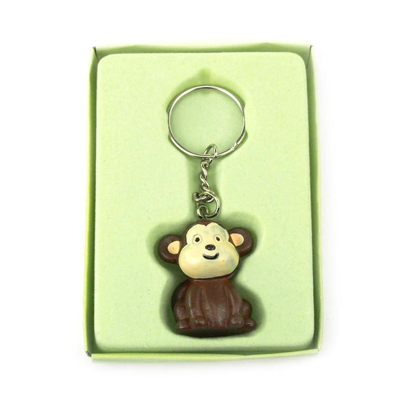 12-Pack, Safari Keychain Favors, 4-inch, Baby Monkey, Brown