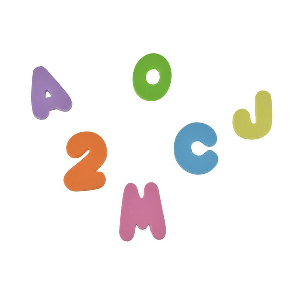 Foam Fun Letter And Number Embellishments, Assorted Sizes, 36-Piece, Pastel