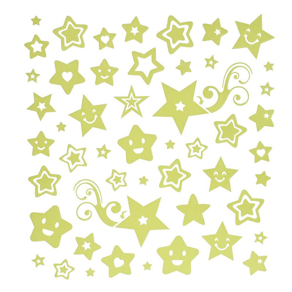 Glow In The Dark Star Stickers, 50-Piece