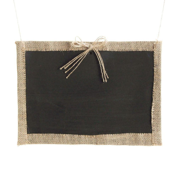 12-Pack, Hanging Chalkboard Frame with Burlap Border, 12-Inch