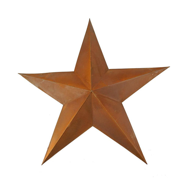 Metal Rusty Tin 3D Star Decor, Rust, 23-Inch