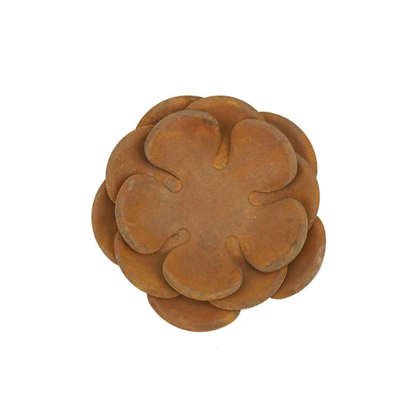 Rusty Rose Tealight Candle Holder, 4-Inch