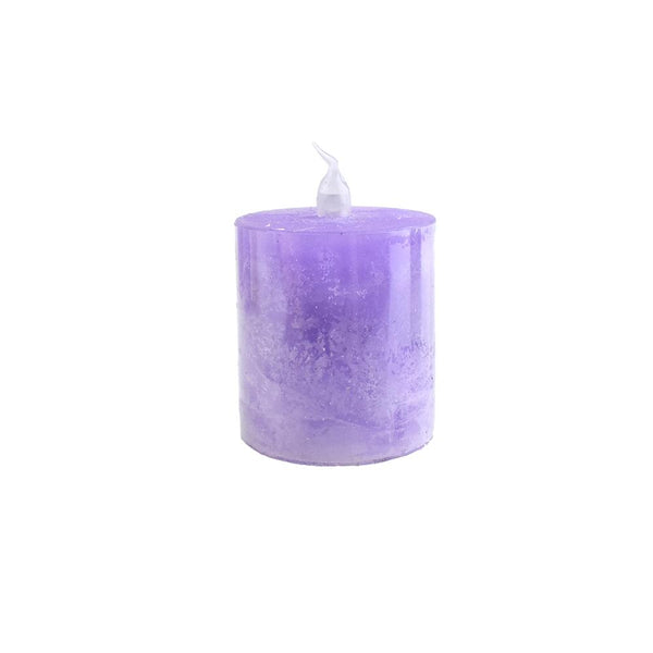 Battery Operated LED Votive Candle with Built-In Timer, Lilac, 2-1/4-Inch