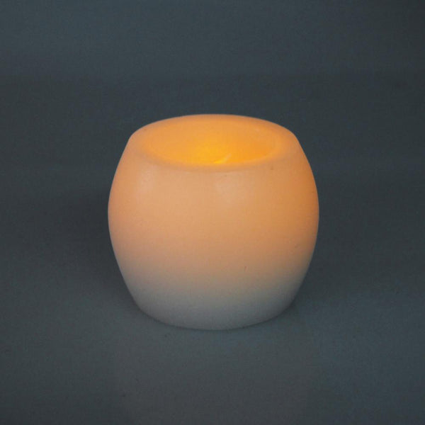 12-Pack, Flameless Frosted Candle Light, Ivory, 2-inch