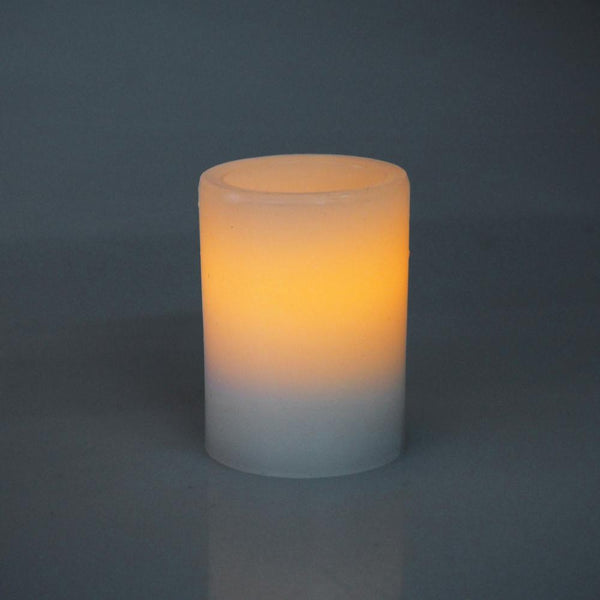 12-Pack, Flameless Frosted Candle Light, Ivory, 3-inch