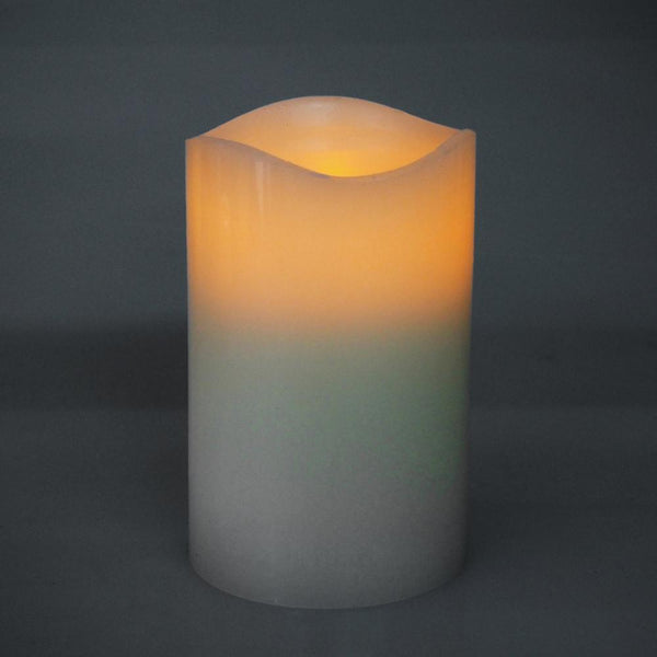 12-Pack, Flameless Frosted Candle Light, Ivory, 5-inch