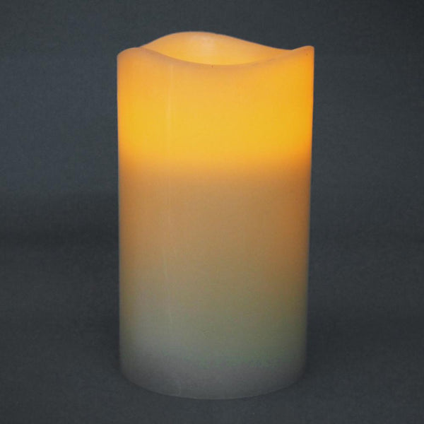 12-Pack, Flameless Frosted Candle Light, Ivory, 6-inch