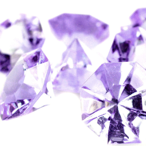 12-Pack, Carat Acrylic Diamond Table Scatter, 1-3/8-inch, 50-piece, Lavender