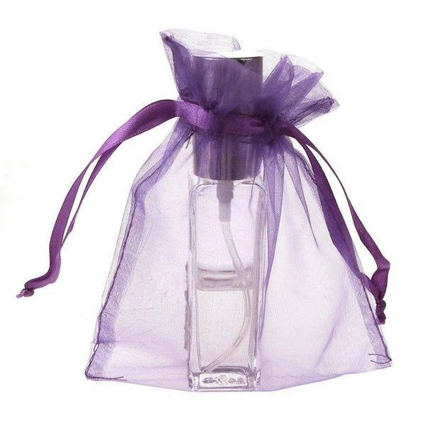 Organza Favor Pouch Bag, 5-Inch x 6-1/2-Inch, 12-Count, Lavender