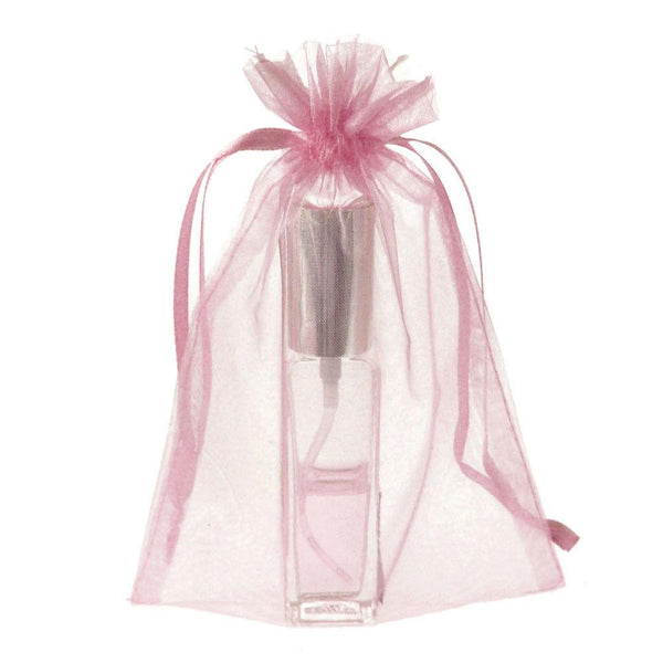 Organza Favor Pouch Bag, 5-Inch x 6-1/2-Inch, 12-Count, Light Pink