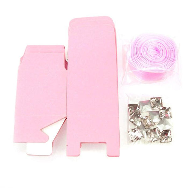 Paper Favor Cube Boxes Kit, 2-inch, 12-Piece, Light Pink
