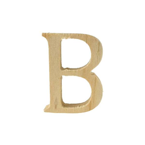 Pine Standing Wood Letter B, 2-Inch, 3-Count
