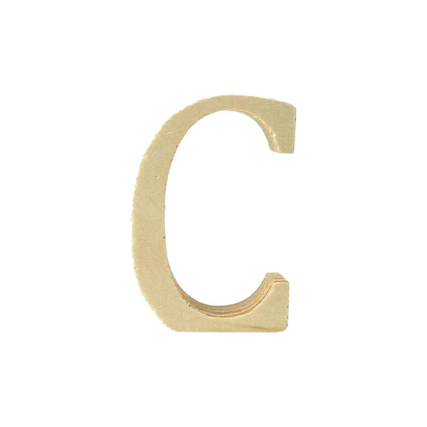 Pine Standing Wood Letter C, 2-Inch, 3-Count