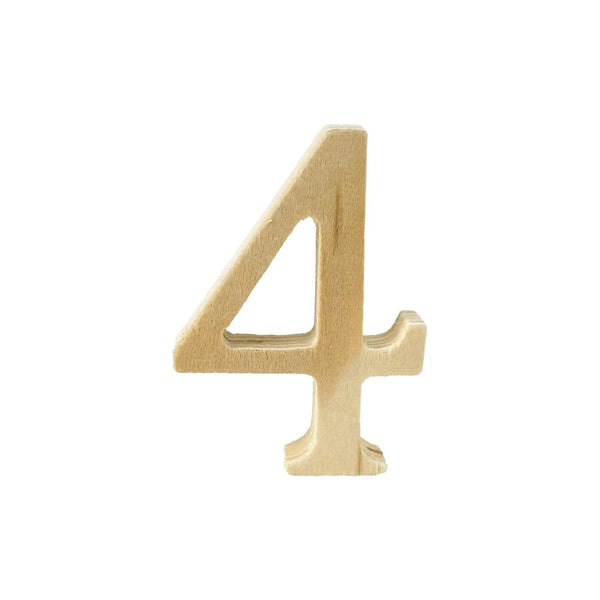 Pine Standing Wood Number 4, 2-Inch, 3-Count