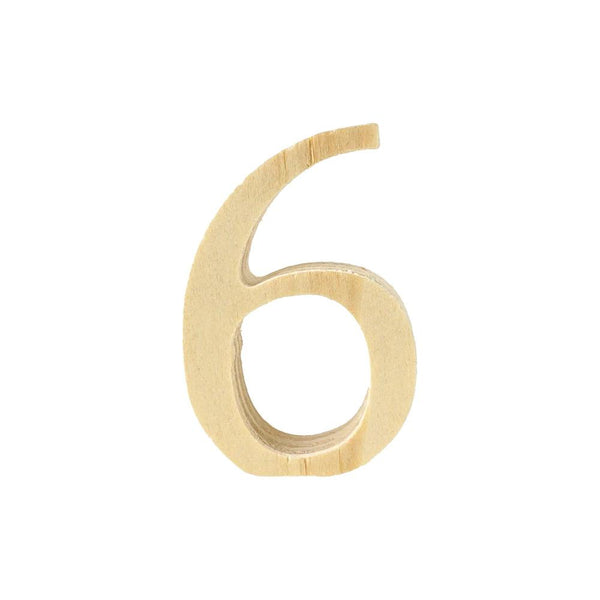Pine Standing Wood Number 6, 2-Inch, 3-Count