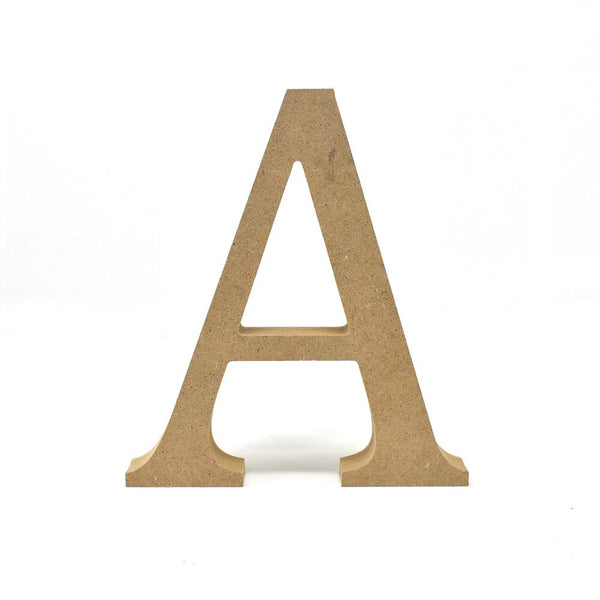Smooth Pressed Board Wood Serif Letter, Natural, 5-1/8-Inch, A