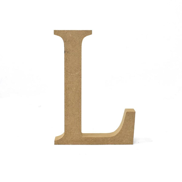 Smooth Pressed Board Wood Serif Letter, Natural, 5-1/8-Inch, L