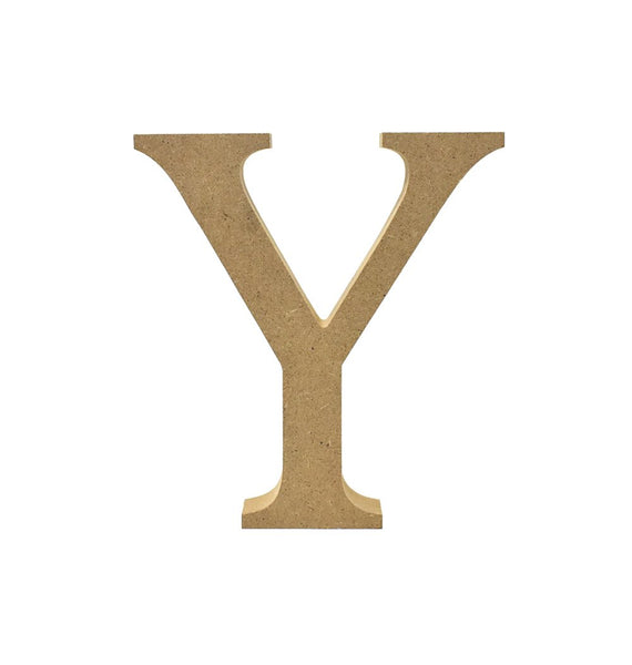 Smooth Pressed Board Wood Serif Letter, Natural, 5-1/8-Inch, Y