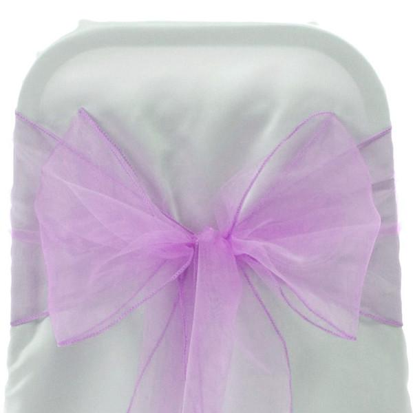 Organza Chair Bow Sash, 9-inch, 10-feet, 6-piece, Mauve