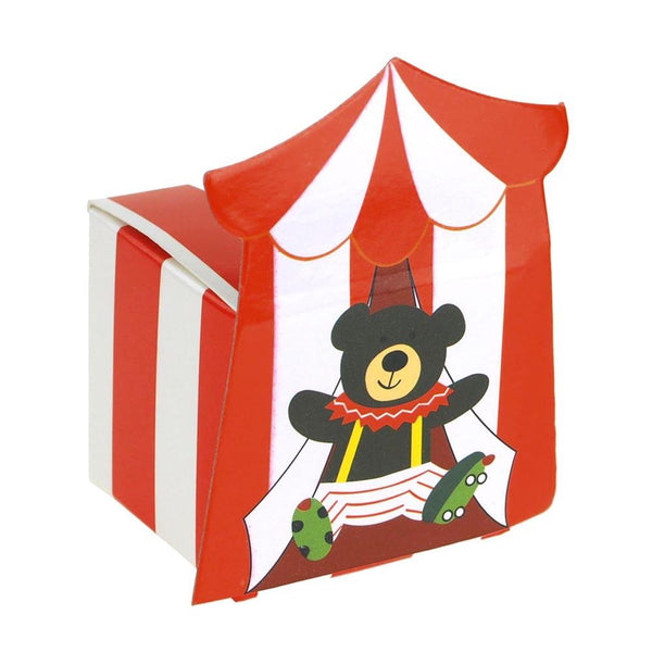 12-Pack, Circus Bear Baby Shower Favor Boxes, 2-Inch, 12-Piece