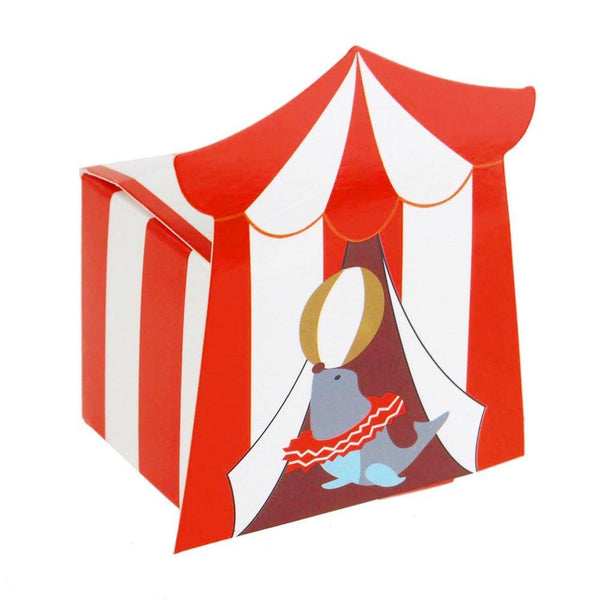 Circus Seal Baby Shower Favor Boxes, 2-Inch, 12-Piece